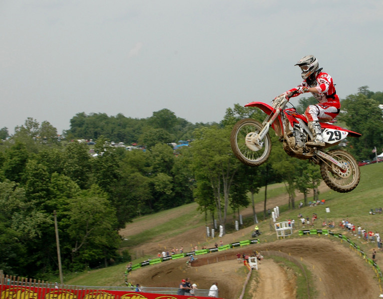 Andrew Short battled with Honda teamate Millsaps both moto's