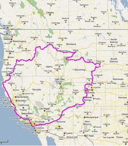tour route east to west riding with Corey Walker