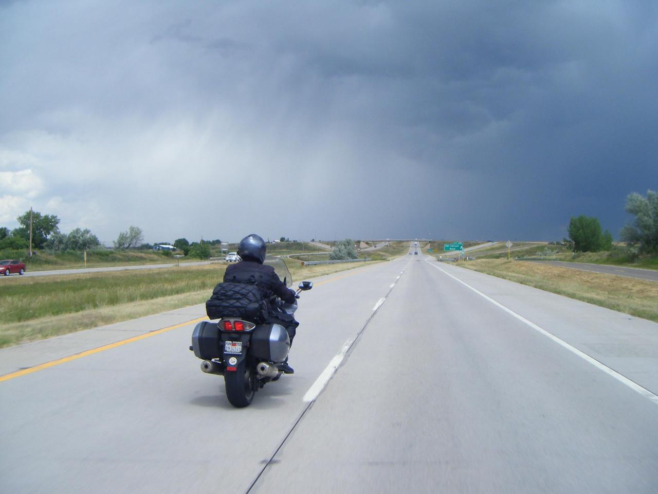 storm riding ahead