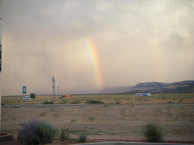 rain squalls in northern arizona tuba city area