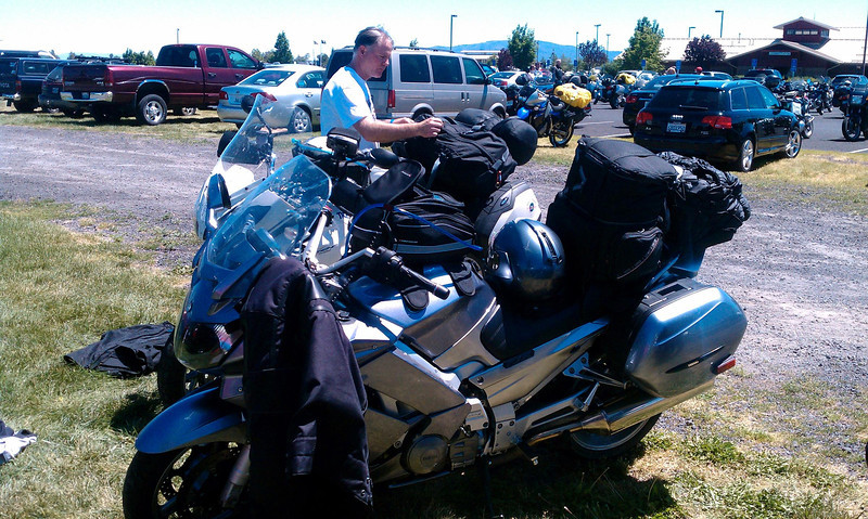 repacking after visiting Keith at the BMW national Redmond, OR