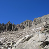 Almost all the approach trail is talus slope.  The trail is well marked with cairns.