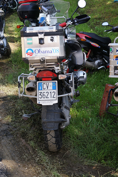 Italian Obama fan, right bike too!