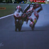 Hector Barbera's spectacular crash near the end of 250 race