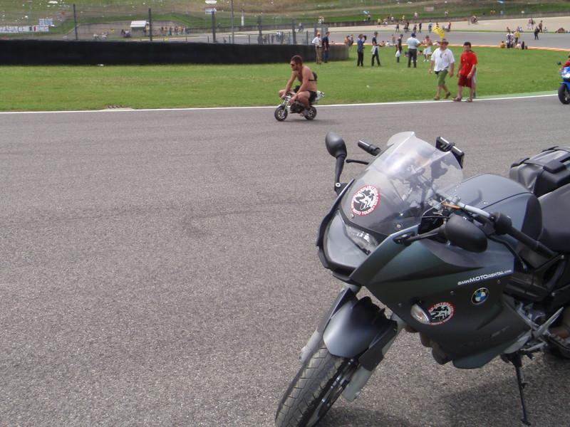 More post race craziness on the track, my bike on the track!