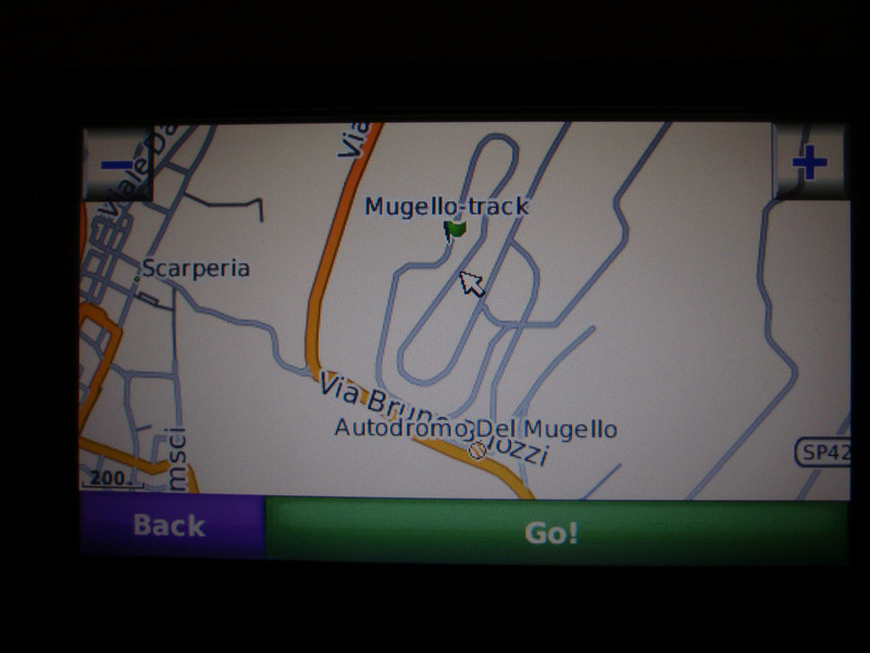 GPS screen shot of where I stopped on the track to take a few pics.