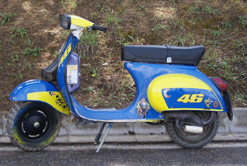 Rossi fan club scooter!