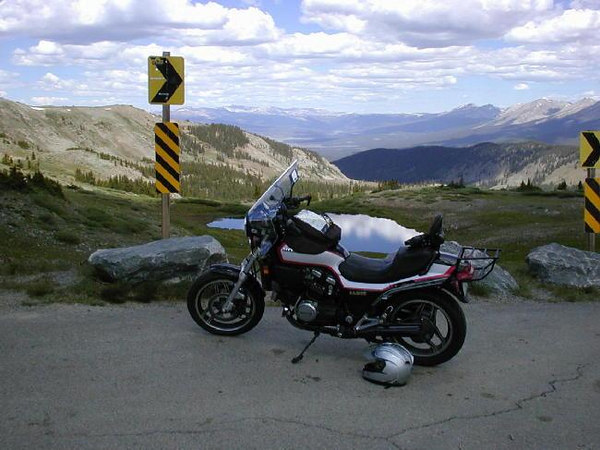 At the top of Cottonwood Pass, Colorado, in July '04.  A nice local ride.
