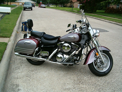 After a 13 year break, I bought this 2001 Kawasaki Vulcan 1500 Nomad FI in Tyler, TX and had from 3/2002 to 10/2006.  I met BJ and Suzanne at Sonic Bike Night in July 2002 and have been with the Lone Star Riders (formerly MTA Chapter 6) ever since.