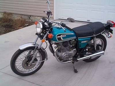 1975 Honda CB360T My first bike.  This one is not mine, but the exact model and color. From 5/1976 to 9/1976