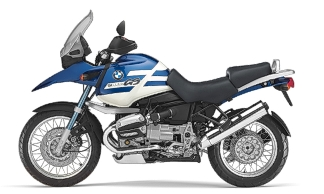 BMW R 1150 GS - bought in Oct. 2002 replacing the Bandit 1200. The dream machine.