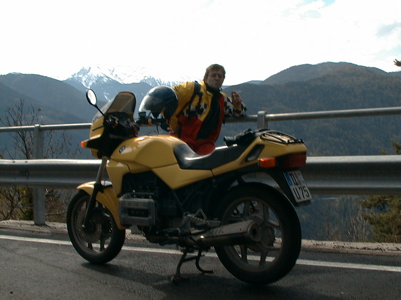 BMW K 75 C - extraordinary engine. Bought in 1999, painted dakar yellow in 2000. Traded in for a blue Suzuki Bandit 1200.
