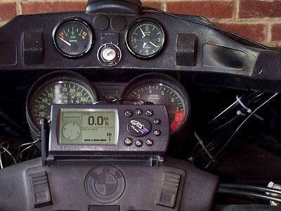 Garmin GPS mount on my 1988 BMW R100RT, it did not hold up well at all.