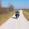 I was doing my civic duty, teaching a young lady, that will soon be moving to Argentina, how to ride on gravel.<br /> First, She and I rode down the levy roads, in IL.