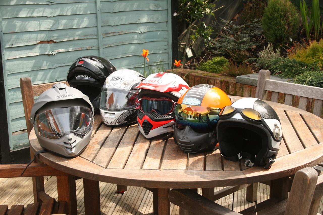 My helmet collection............