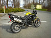 My new 2012 Triumph Tiger 800 at Deas Island Regional Park. Photos taken on an iPhone 4 using the Camera Awesone app.