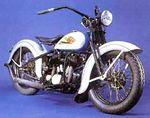 1934 HD 74CI Flat head (my first bike but this one not mine) 1952