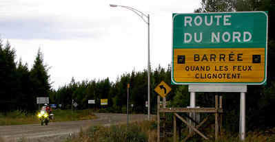 Finishing the North Road in Quebec....260 miles of dirt road.