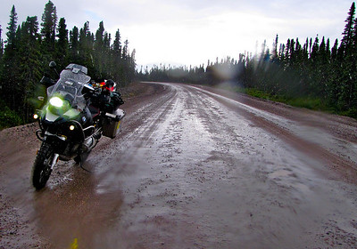 Trans-Labrador Highway in the rain.
