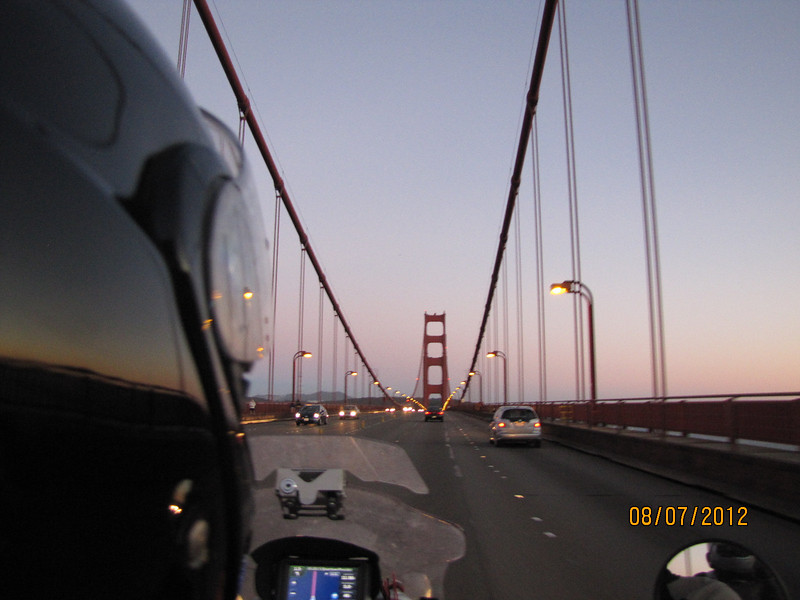 San Francisco Bay Bridge at dusk!