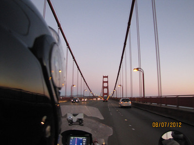 San Francisco Bay Bridge at dusk!