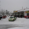 Chain buying at Les Schwab.  No vehicles allowed in Portland without chains.  Think my truck was okay though.