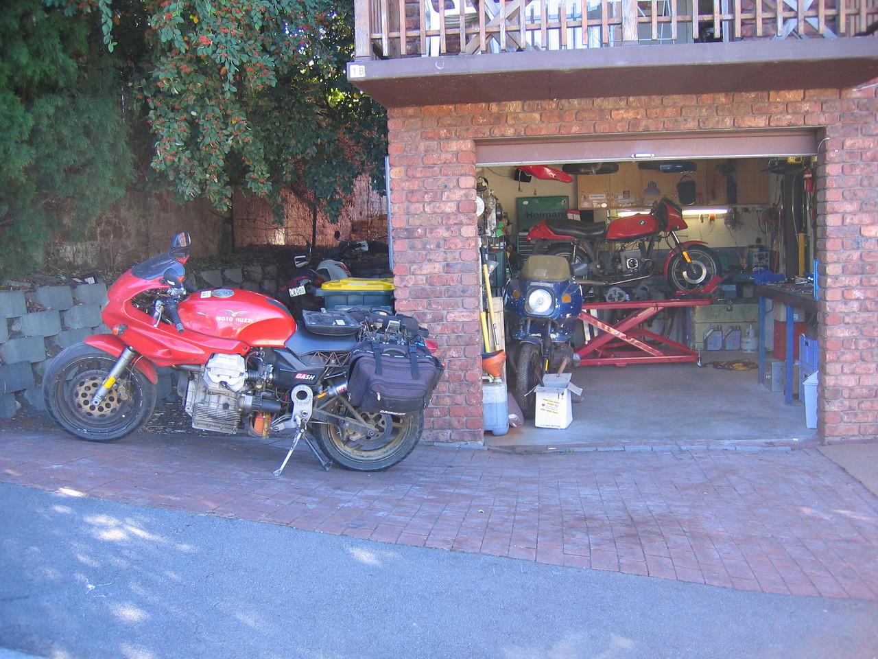 Four bike, only the Moto Guzzi goes, sigh