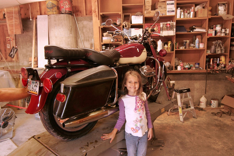Daughter makes bike look good.