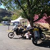Arriving in Mariposa, CA for the Horizons Unlimited Travellers Meeting.  David and I sold motorcycle tire changing, repair and moto recovery gear to the attendees, as well as a pile of CyclePump inflators and EZ Air guages.