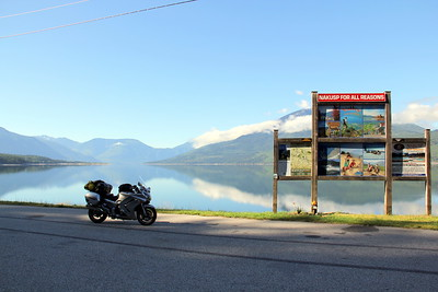 Wayside at Upper Arrow Lake north of Nakusp, BC