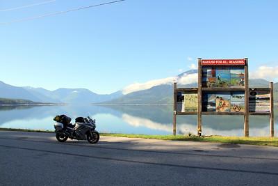 Wayside at Upper Arrow Lake north of Nakusp, BC