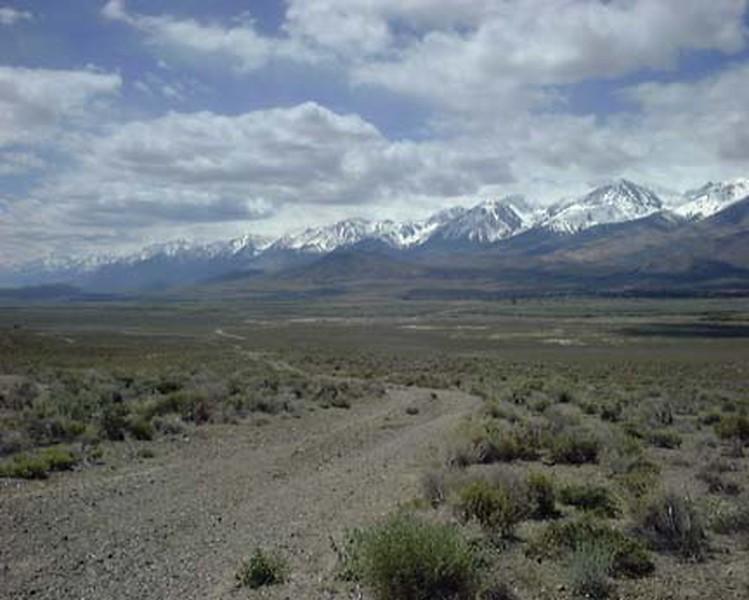 East of the Sierras near Big Pine