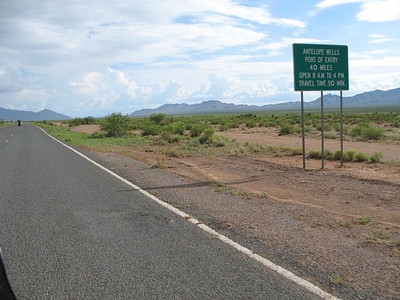 on the road to the Mexican border