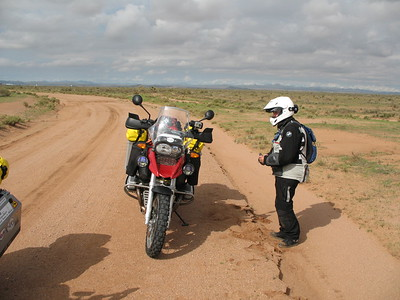 After a night in a Lordsburg motel to escape the thunderstorms, and roving drug and human smugglers known to frequent the area, we set out north of Separ, to begin the first dirt portion of the route