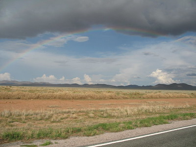 a wider lens would have captured the whole rainbow.