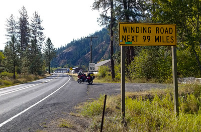 Heading up Hwy. 12 to Lolo Pass