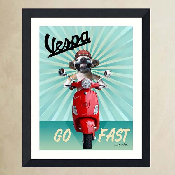 Vespa dog.