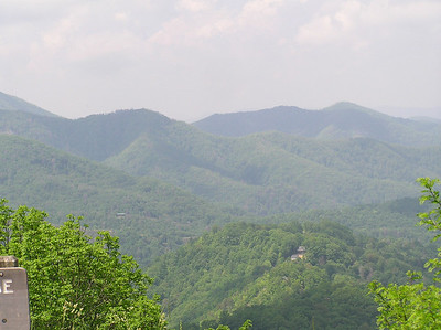Typical view from the Blue Ridge Parkway