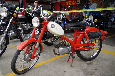 There were a few Harley Aermacchi bikes in the show