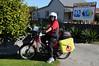 the Postlady in Geraldine (modified CT100 Honda)