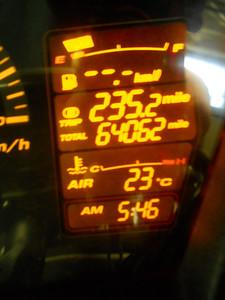 Starting mileage 64062