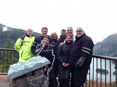 Andy, Mark, Lisa, Kathleen, Filip, Don, Sharlene and Marty at Diablo Lake