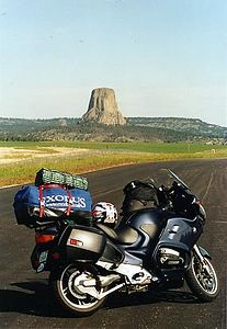2002 BMW R1200RT.  This was at Devil's Tower on my trip back from Seattle.