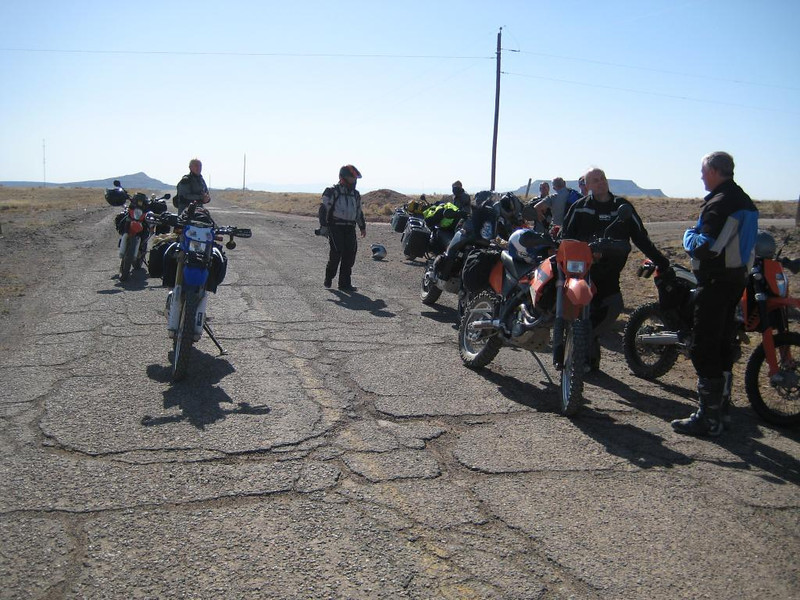 Old 66 west of Abq where we met up with Kent