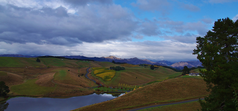 View From Clouds House, Renwick, Blenheim area, SI, NZ.