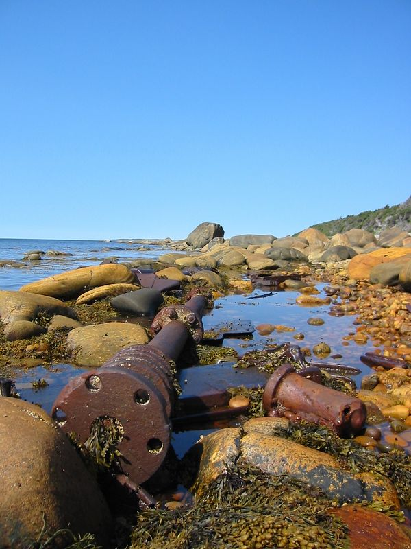 Wreckage on West Coast of Newfoundland... I think this is the driveshaft.
