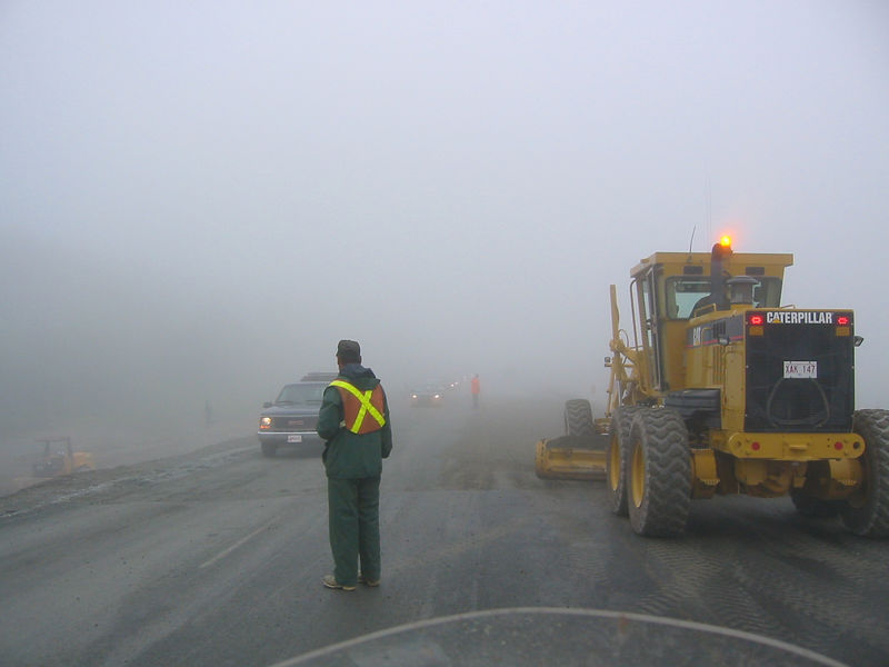 Road construction between Clarenville and St. John's