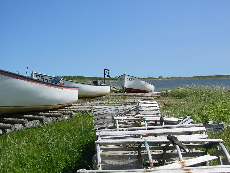 Boats on shore at New Ferrole