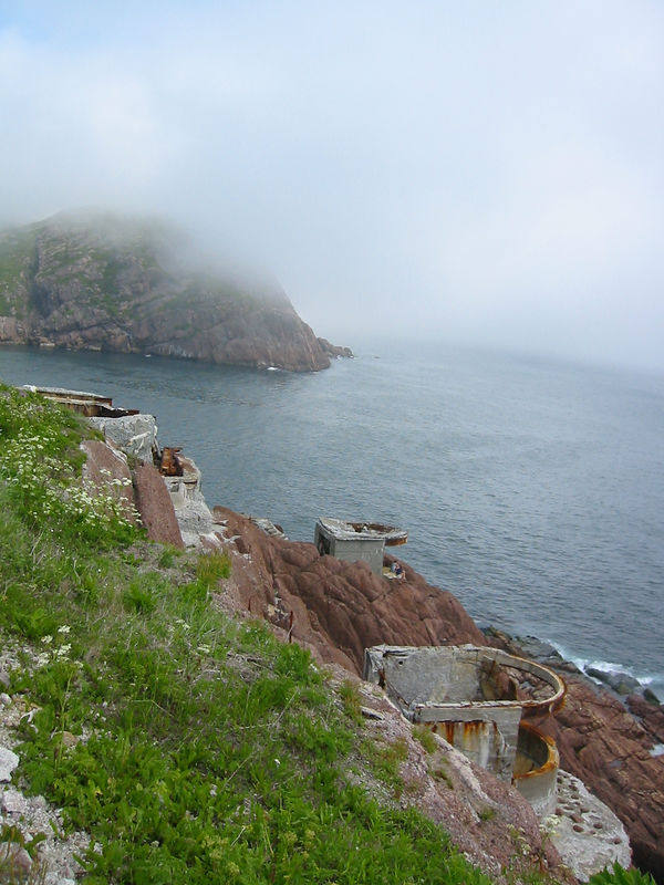 WWII Gun emplacements defending the Narrows