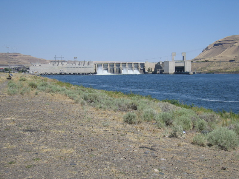 Snake river dam - Herbert G West. The structure on the right are locks to allow barge traffic on the river.